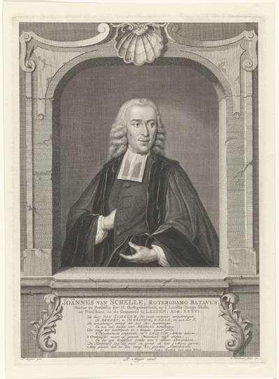 Portret van Johannes van Schelle; Joännes van Schelle
