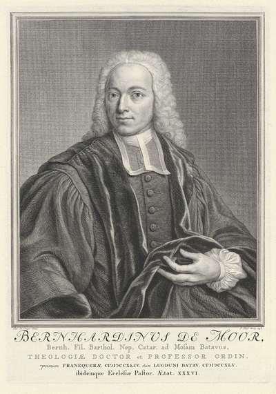 Portret van Bernhardinus de Moor