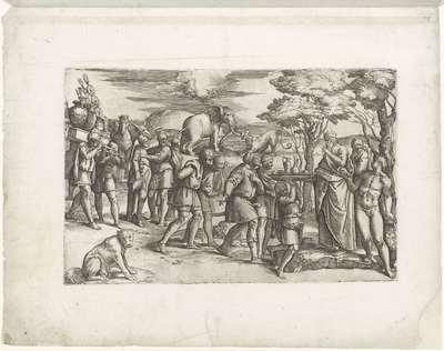 Abrahams ontmoeting met Melchisedek