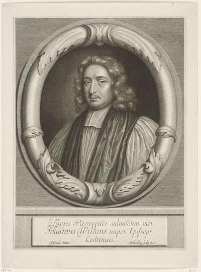 Portret van John Wilkins, bisschop van Chester; Effigies Reverendi admodum viri, Johannis Wilkins, nuper Episcopi Cestriensis