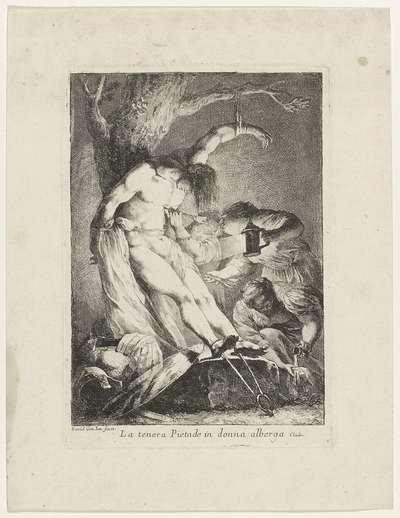 Heilige Sebastiaan verzorgd door de heilige Irene; La tenera pietade in donna alberga