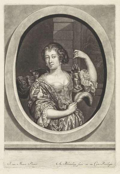 Vrouw met een geldbuidel
