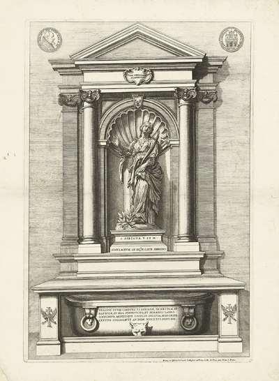Grafmonument voor de heilige Bibiana; Schilderingen en beelden uit de kerk Santa Bibiana in Rome
