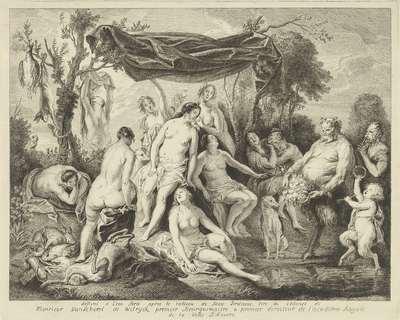 Badende Diana en Silenus