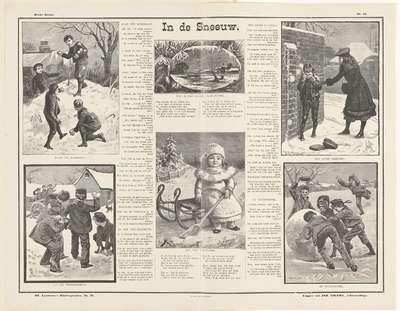 In de sneeuw; Louwerse's kinderprenten; Derde reeks