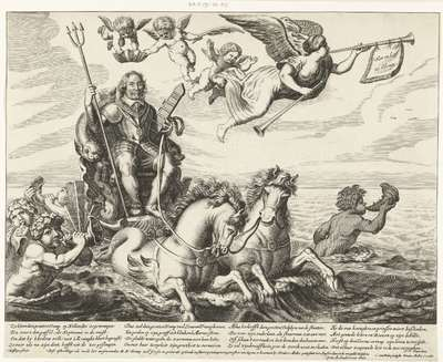 Zegewagen ter ere van Maarten Tromp, gesneuveld in de Zeeslag bij Terheide, 1653