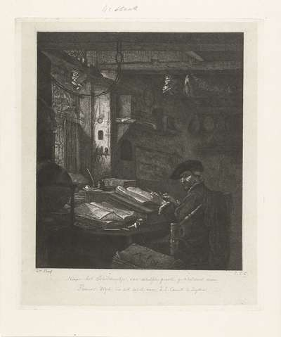 Image from object titled Koopman in zijn kantoor