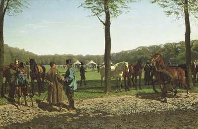 Image from object titled Horse Fair on the Maliebaan at The Hague