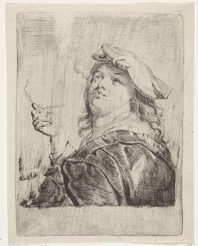 Roker met een pijp in de hand