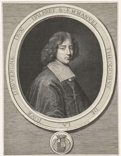 Portret van kardinaal Emmanuel Théodore de la Tour d'Auvergne