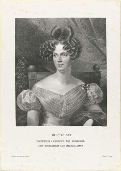 Portret van Marianne, prinses der Nederlanden