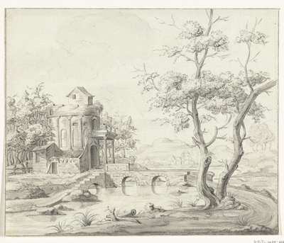 Image from object titled Landschap met fantastische ruïne