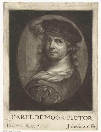 Zelfportret van Carel de Moor