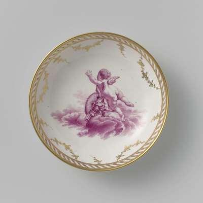 Image from object titled Schotel, beschilderd met putti zwevend op wolken