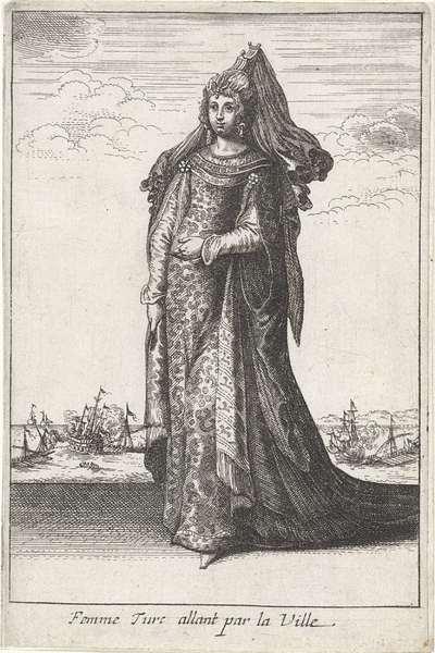 Femme Turc allant par la Ville; Vrouwen in klederdracht; Livre Curieux