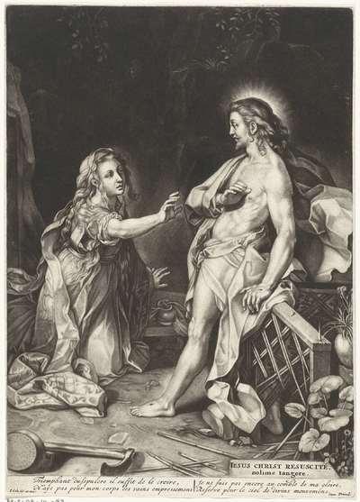 Christus verschijnt aan Maria Magdalena (Noli me tangere); Iesus Christ Resuscité, nolime tangere