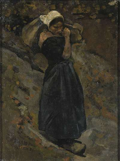 Image from object titled A Peasant Woman carrying a Sack