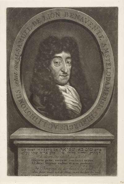 Portret van de chirurg Samuel de Lion Benevente