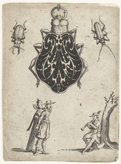 Zwartornament in de vorm van een kever