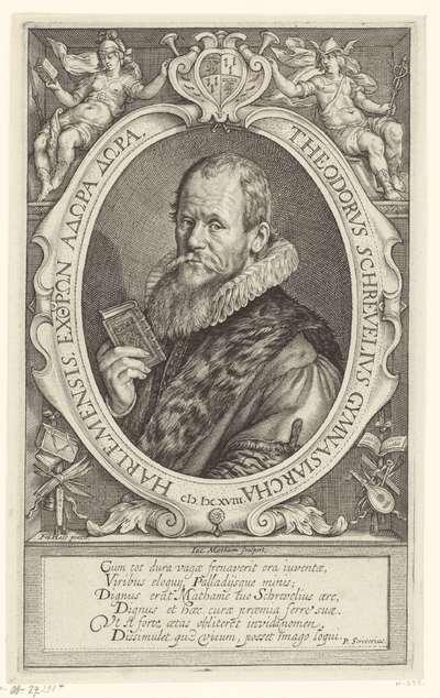 Portret van Theodorus Schrevelius