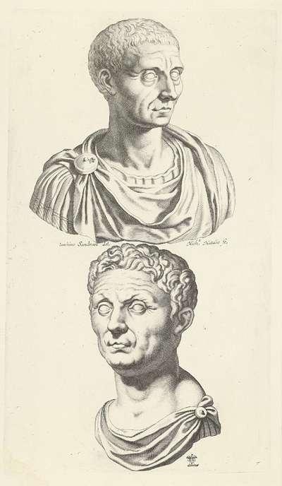 Buste van Julius Caesar en buste van Pompeius; Galleria Giustiniana del Marchese Vincenzo Giustiniani II