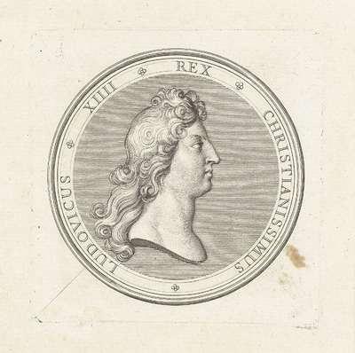 Penning met buste van Lodewijk XIV
