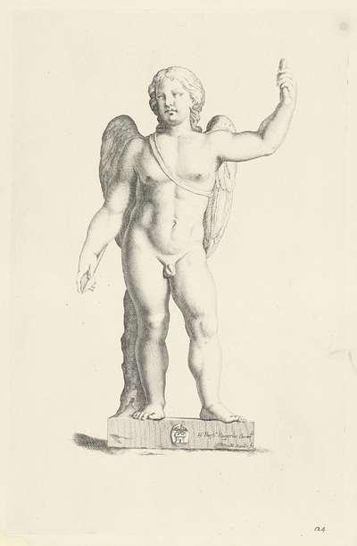 Standbeeld van Amor; Galleria Giustiniana del Marchese Vincenzo Giustiniani I