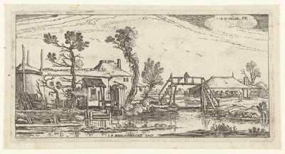 Boerderij aan een kanaal bij Haarlem; Landschappen