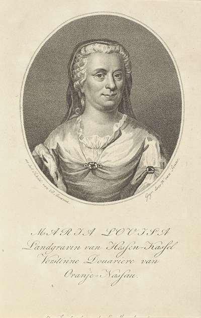 Portret van Maria Louisa van Hessen-Kassel