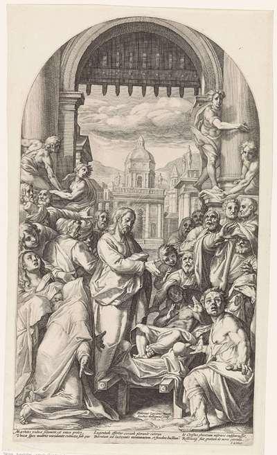 Christus wekt de zoon van de weduwe te Naïn op