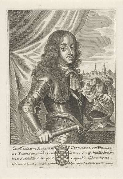 Portret van Inacho Melchior Ferdinand de Velasco
