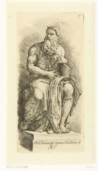 Mozes met de stenen tafels; Paradigmata graphices variorum artificum