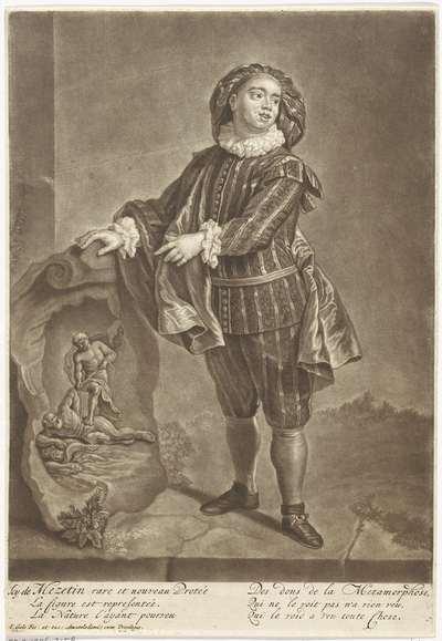 Portret van Angelo Constantini; Icy de Mezetin rare et nouveau Protée