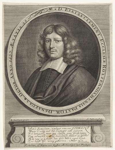 Portret van Esaias Clement