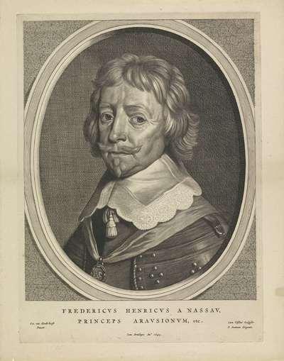 Portret van Frederik Hendrik, prins van Oranje; Fredericus Henricus Illustrissimus Orangiae Princeps