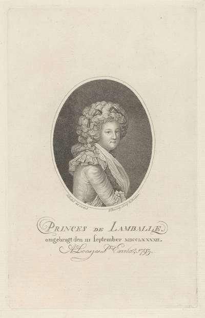 Portret van Marie-Thérèse Louise de Savoie-Carignan