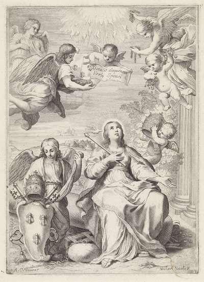 Allegorie op het pausschap van Urbanus VIII; Dotalis eloquentia verbi sponsi