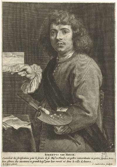 Portret van de schilder Robert van den Hoecke