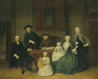 Image from object titled Portrait of the Brak Family, Amsterdam Mennonites