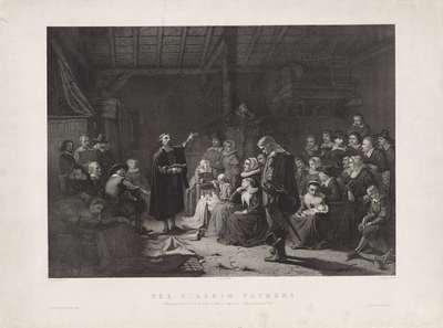 The Pilgrim Fathers. Naar Geo Schwartze. Met adressen van Goupil en Knoedler