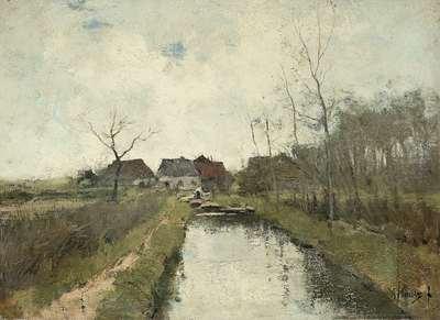 Image from object titled Huisje aan een sloot