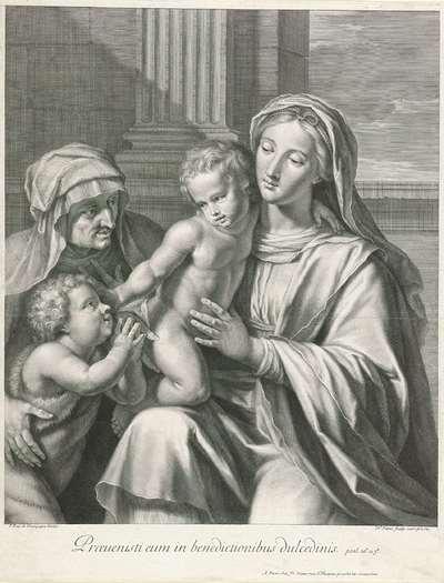 Johannes de Doper aanbidt het Christuskind