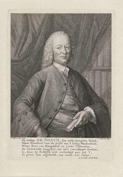 Portret van Bernardus de Bosch; De zedige de Bosch