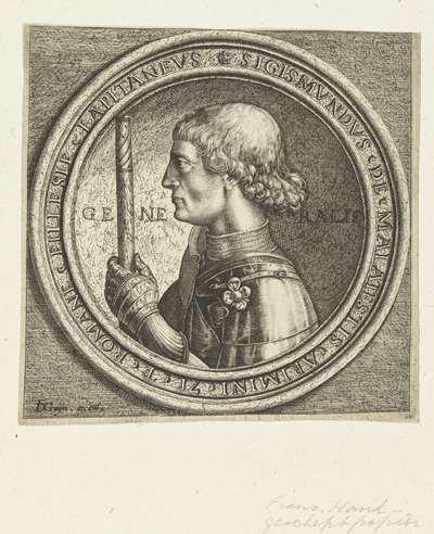 Portret van Sigismondo Malatesta; Vier portretten naar Italiaanse penningen uit de Renaissance
