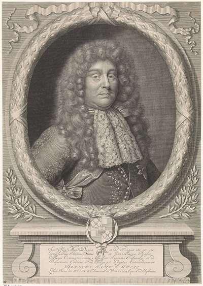 Portret van Janus Juell, baron van Juling