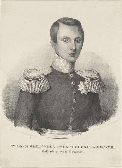 Portret van Willem III, koning der Nederlanden