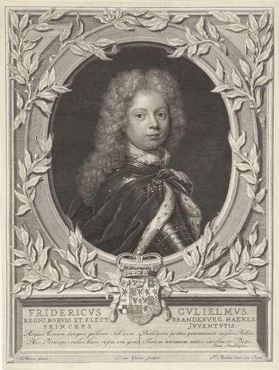 Portret van Frederik Willem I, koning van Pruisen als kroonprins
