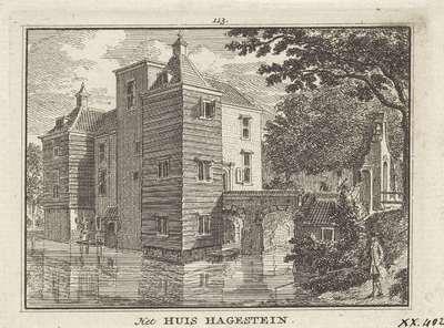 Gezicht op Huis Hagestein; Het Huis Hagestein
