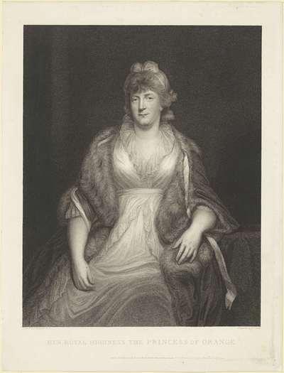 Portret van Wilhelmina van Pruisen