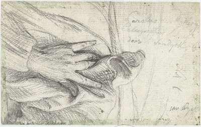 De linkerhand van Karel van Mallery op zijn mantel